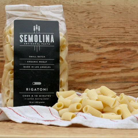 Semolina Organic Dried Pasta Rigatoni 16 OZ - Milk and Eggs - 1