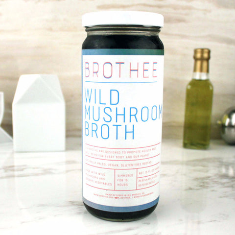 Brothee Vegan Wild Mushroom Broth 16 OZ - Milk and Eggs - 1