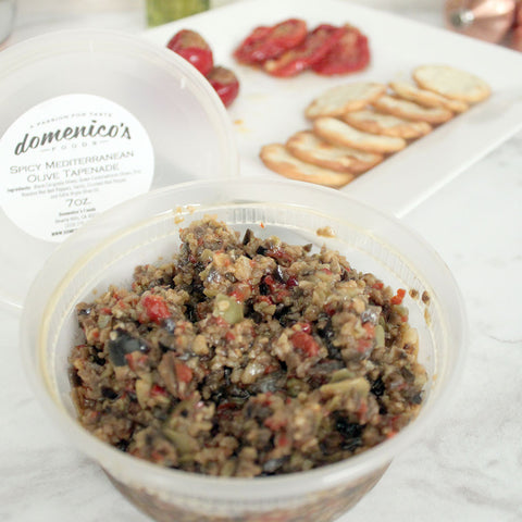 Domenico's Spicy Mediterranean Olive Tapenade 7oz - Milk and Eggs - 1