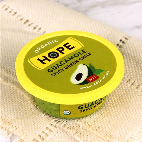 Sauce - Hope Foods Organic Guacamole Green Chile Hot