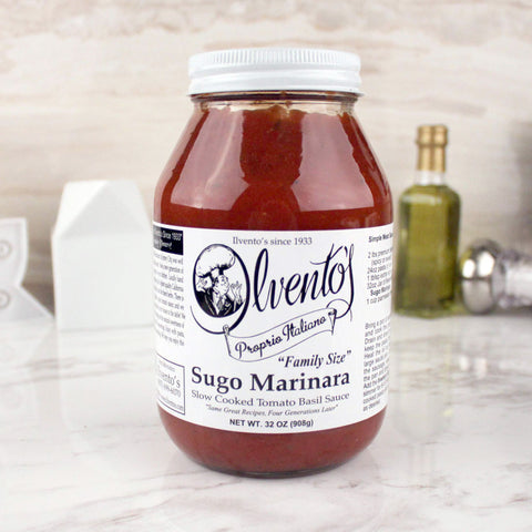 Ilvento's Proprio Italiano Sugo Marinara Sauce LARGE 32 OZ - Milk and Eggs - 1