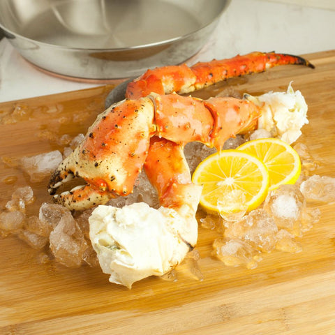 Jumbo Alaskan King Crab Legs & Claws Frozen 1lb - Milk and Eggs