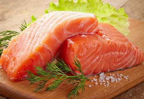 Seafood - Norwegian Storm Salmon Fillets Frozen 7 Oz
