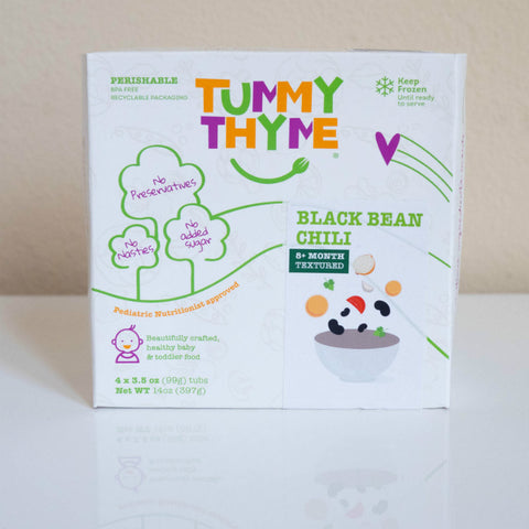 Tummy Thyme Baby Food Black Bean Chili