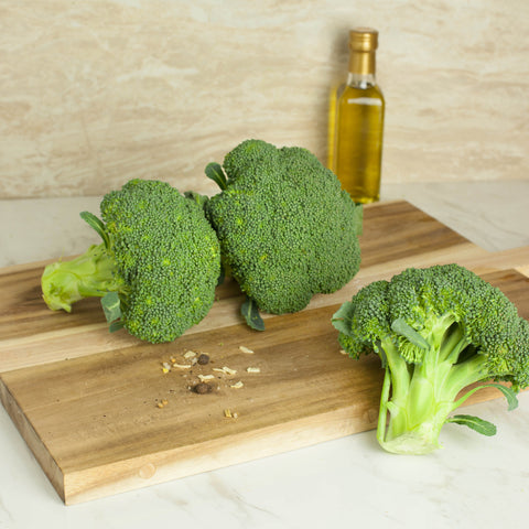 Organic Broccoli Crowns - Milk and Eggs