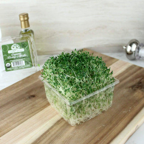 Organic Living Alfalfa Sprouts - Milk and Eggs - 1
