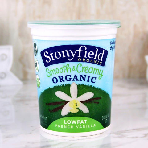 Yogurt - Stonyfield Organic Smooth & Creamy Yogurt Lowfat French Vanilla 32 Oz