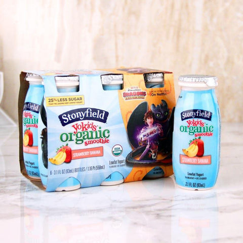 Yogurt - Stonyfield Organic YoKids Smoothies Strawberry Banana