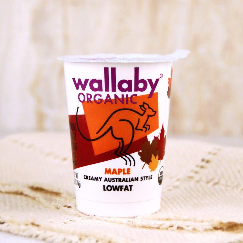 Wallaby Organic Yogurt Lowfat Maple - Milk and Eggs - 1