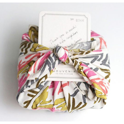 wrapped up newborn baby gift in japanese method