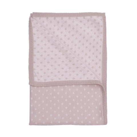diamond baby blanket grey/pink