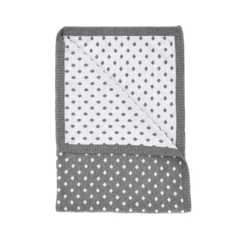 diamond baby blanket grey/white