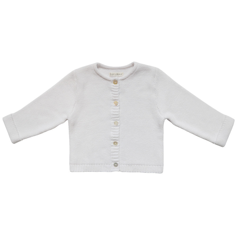 babies luxury cardigan in white