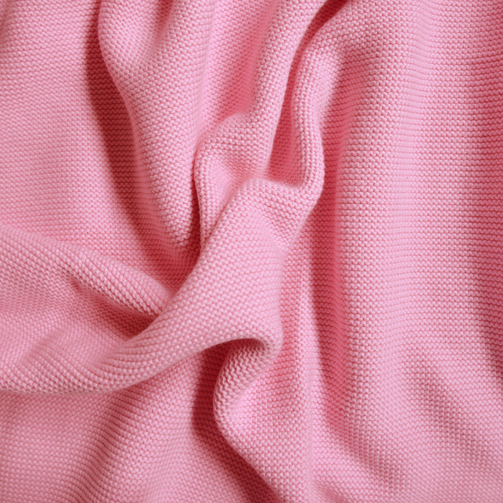 pink wave knitted baby blanket