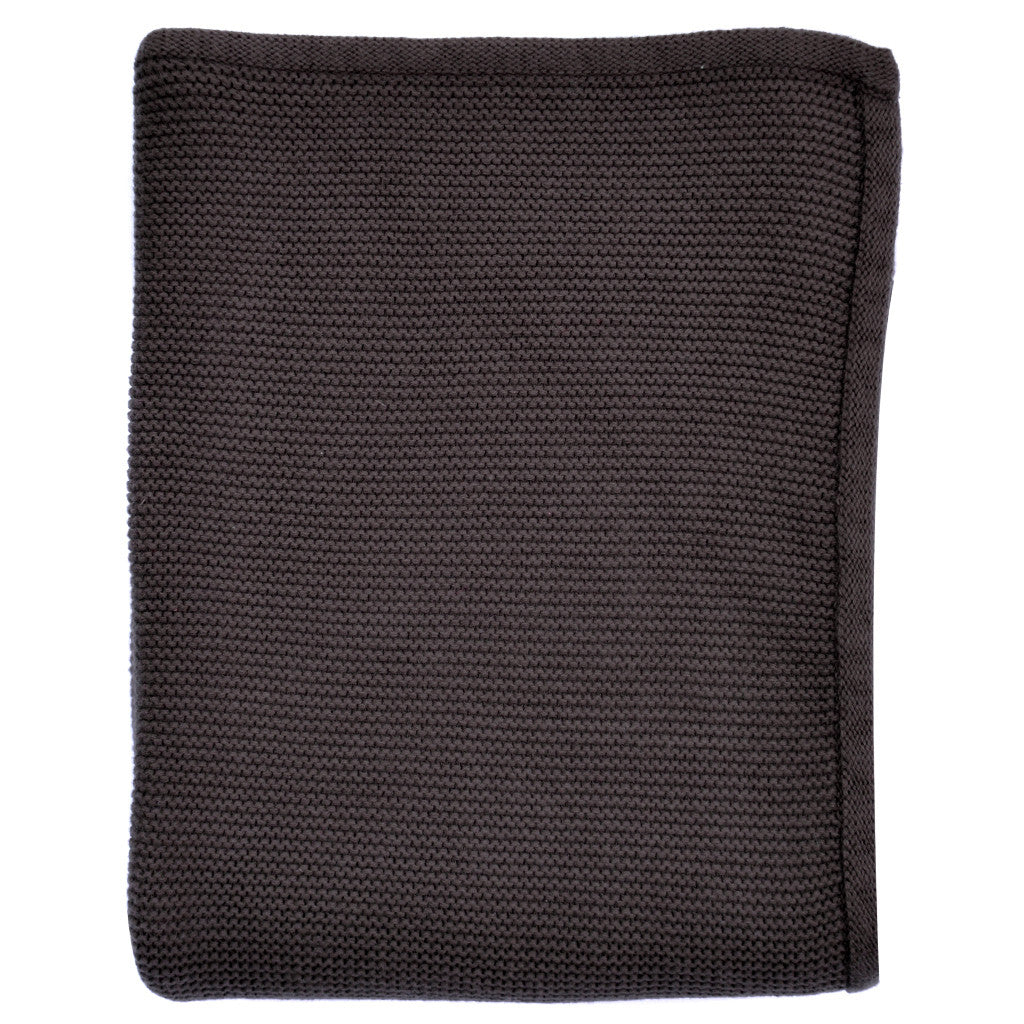 charcoal baby knitted blanket