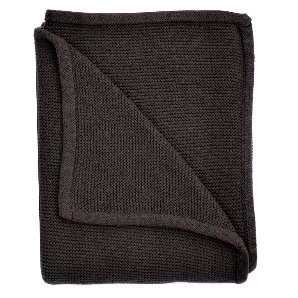 charcoal baby knit blanket