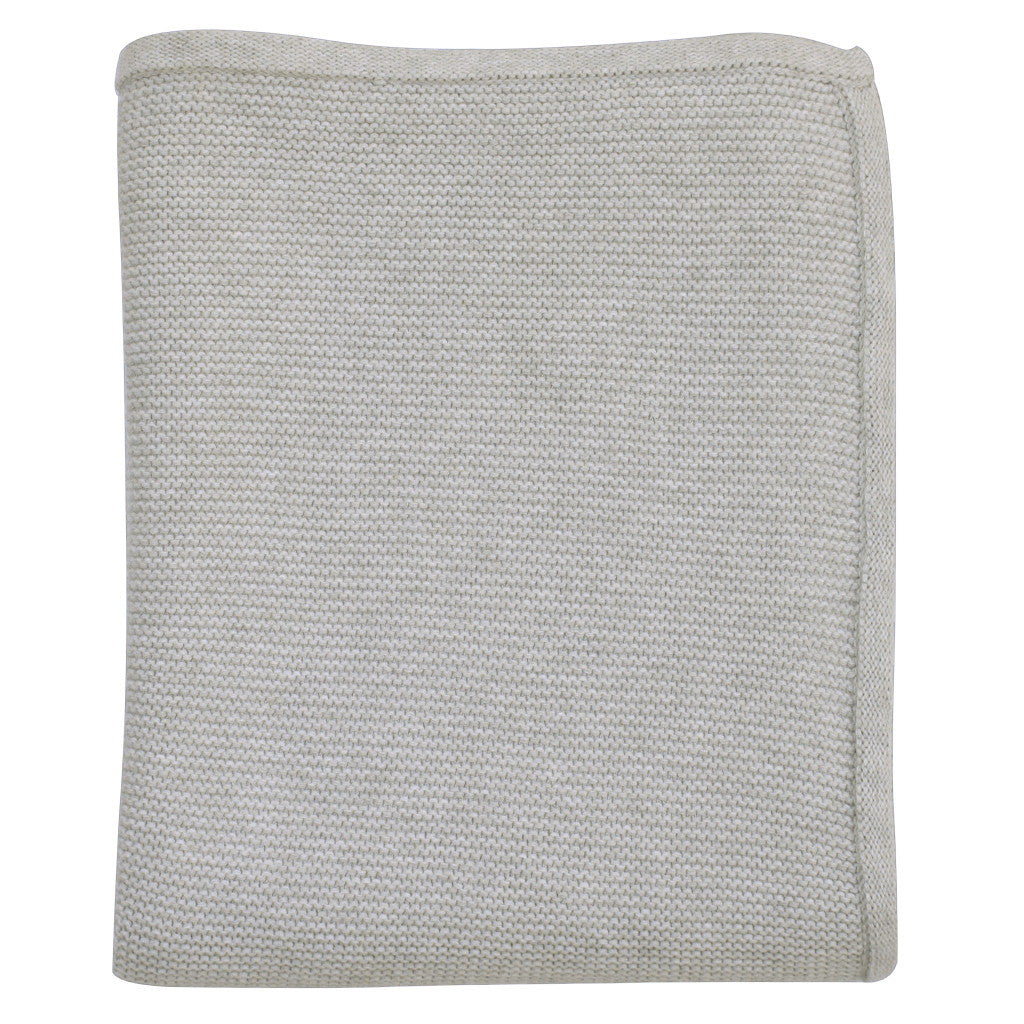 grey marl knitted baby blanket