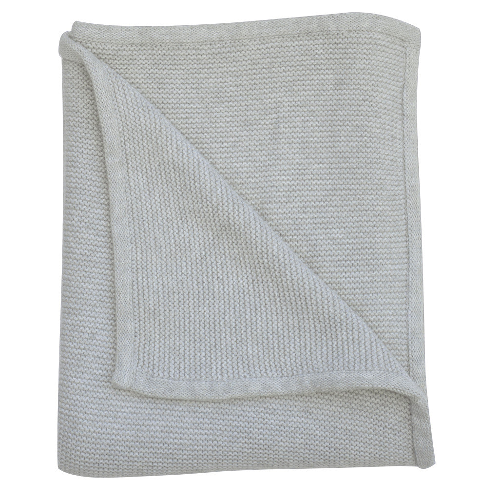 grey marle knit baby blanket