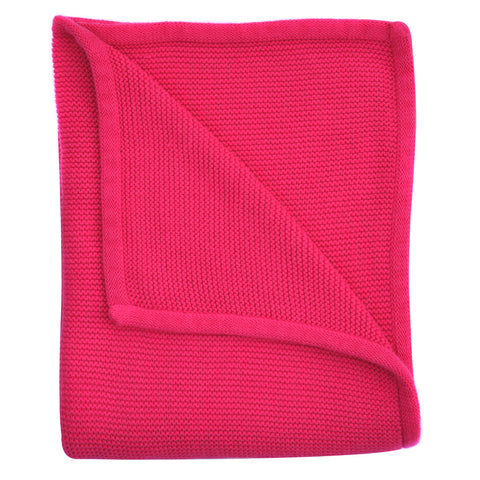 hot pink wave knit baby blanket