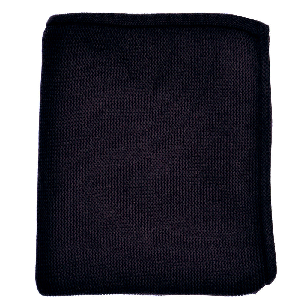 navy blue baby knit blanket