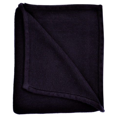 navy blue baby knitted blanket