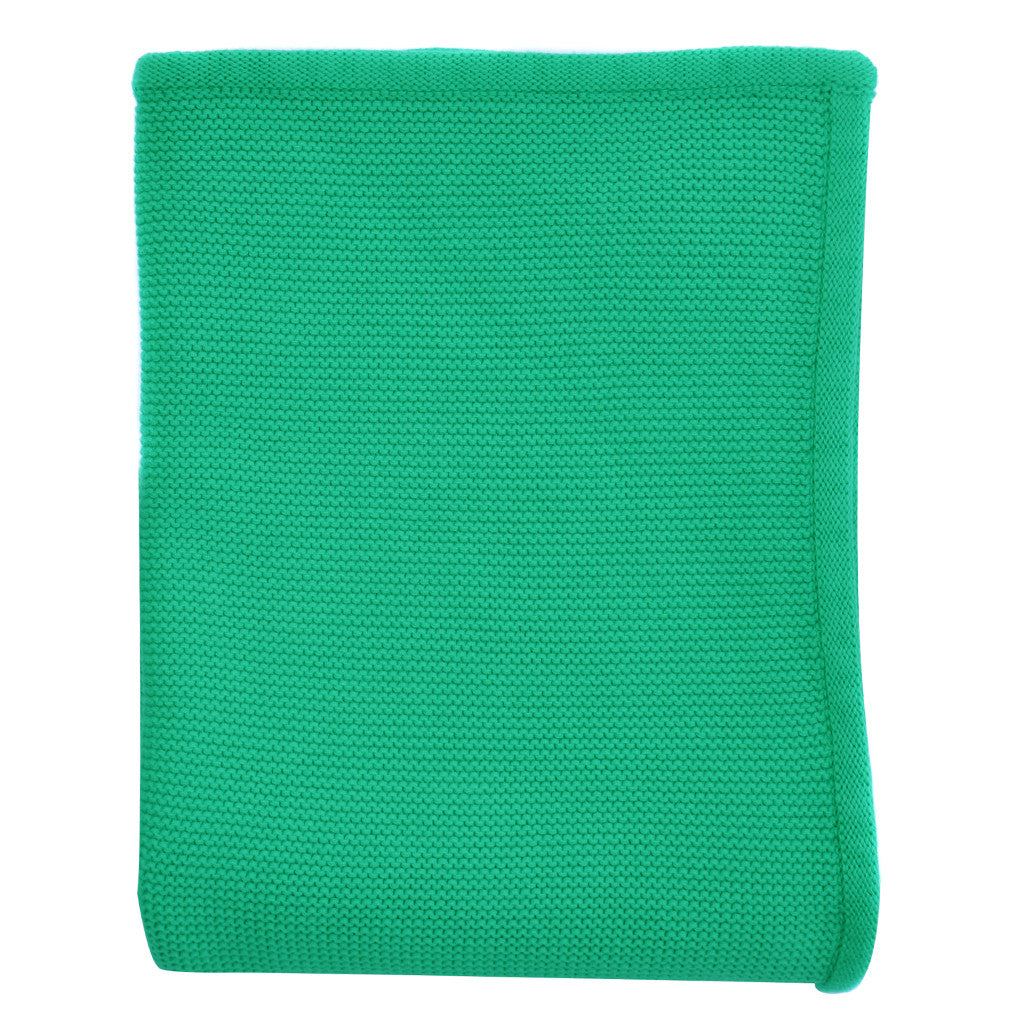 green baby knit blanket