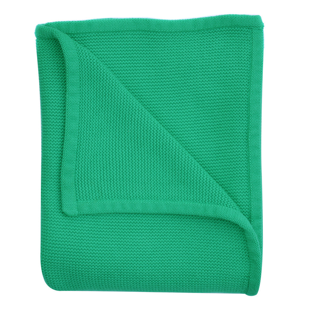 green baby knitted blanket