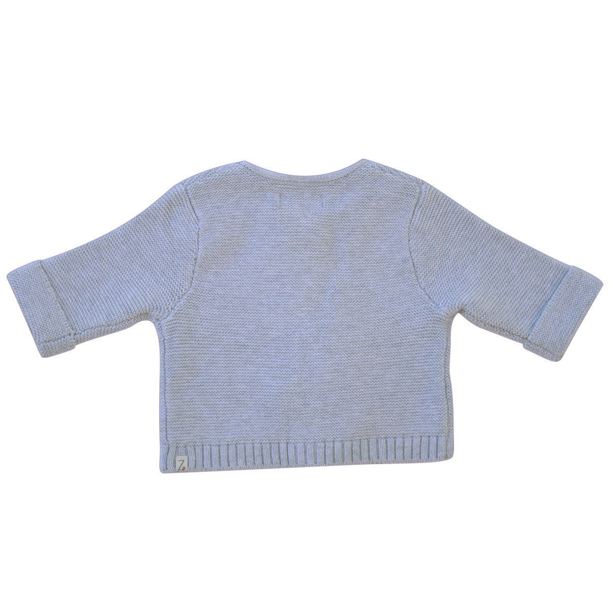 grey marle baby cardigan back
