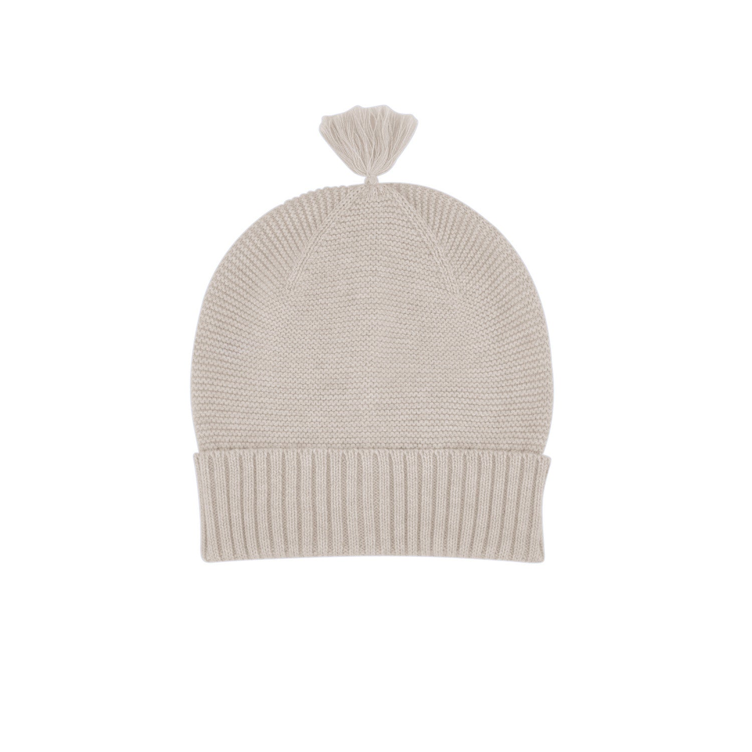 baby beanie oatmeal wave knit
