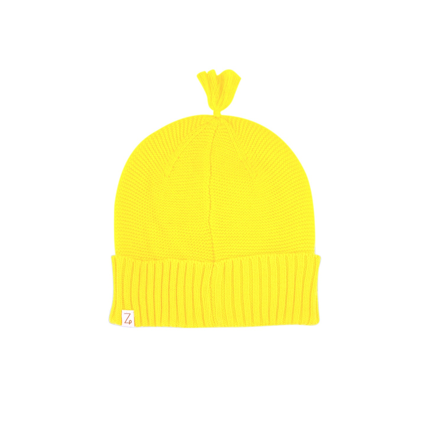 sunshine yellow beanie back