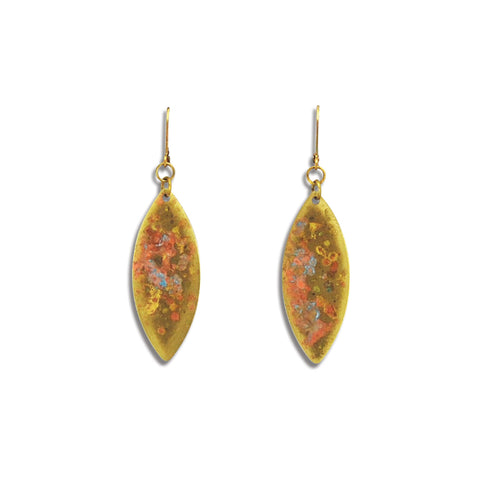 Medium Marquise Patina Earring