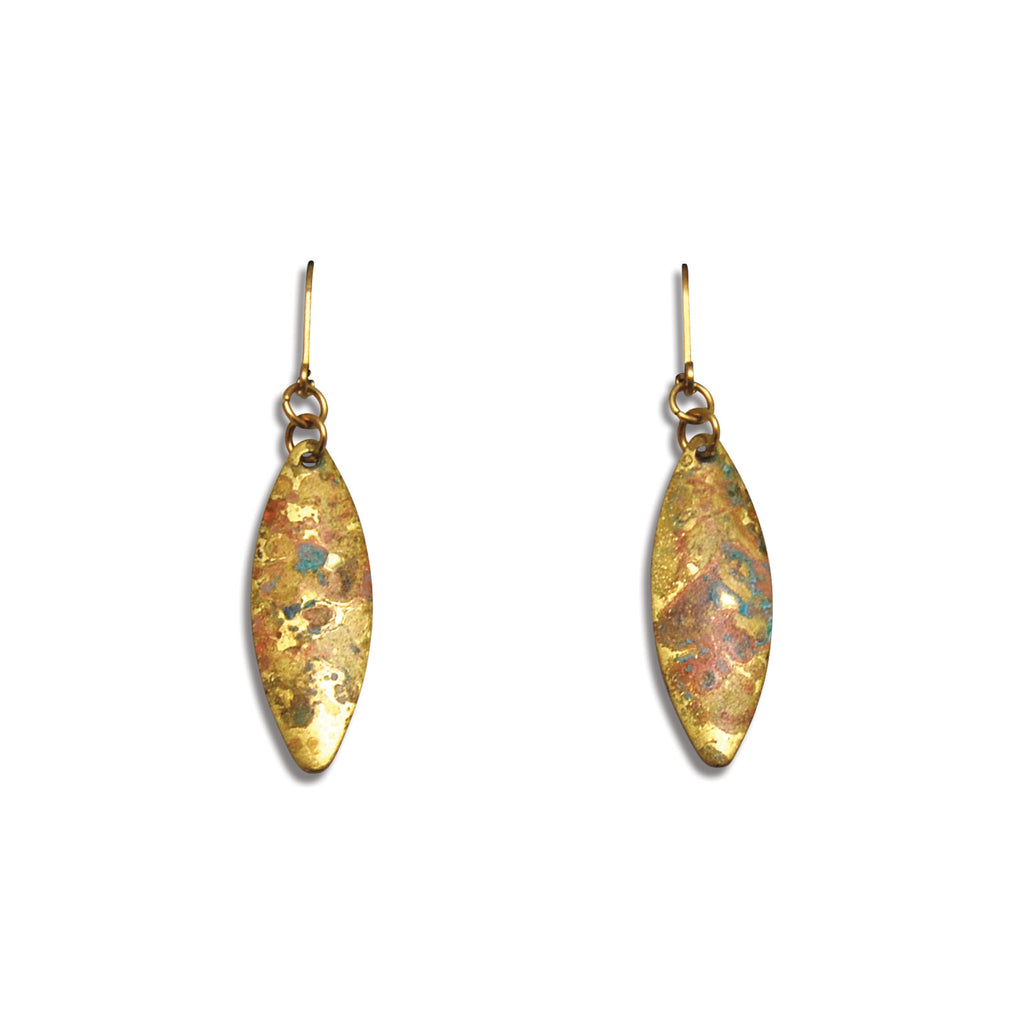 Convex Marquise Patina Earring