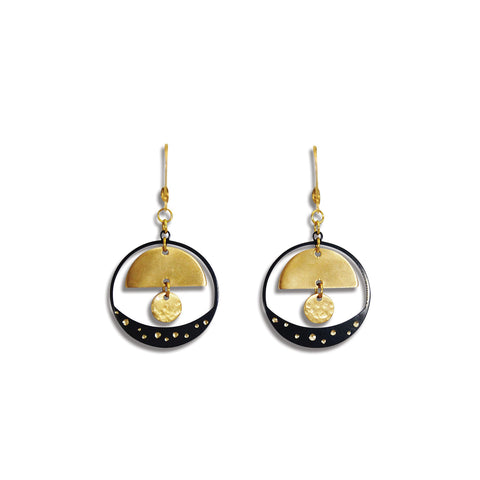 Starry Night Watchful Eye Earring