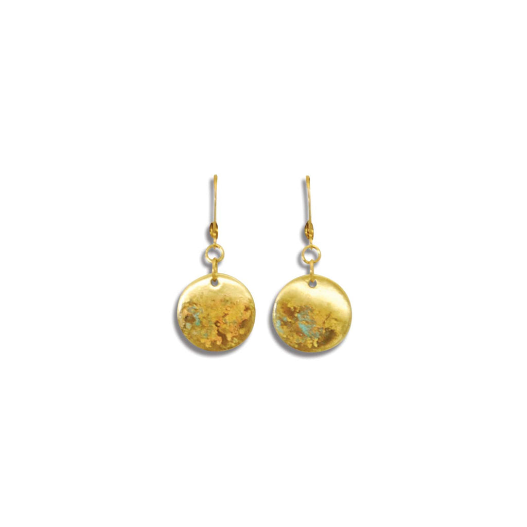 Thick Landscape Coin Earring
