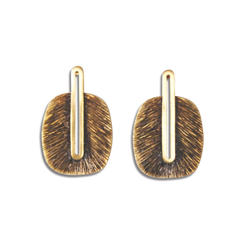 Egyptian Frond Earring in Coffee