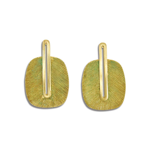 Egyptian Frond Earring in Seafoam