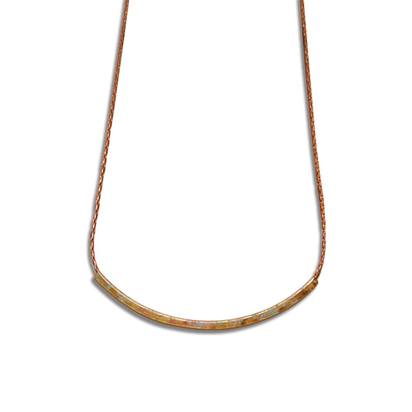 Fine Arch Patina Necklace with Your Choice of Chain