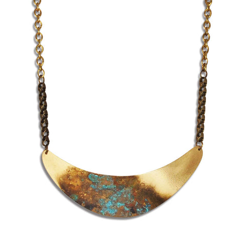 Landscape Crescent Necklace