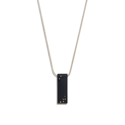 Starry Night Vertical Billet Necklace