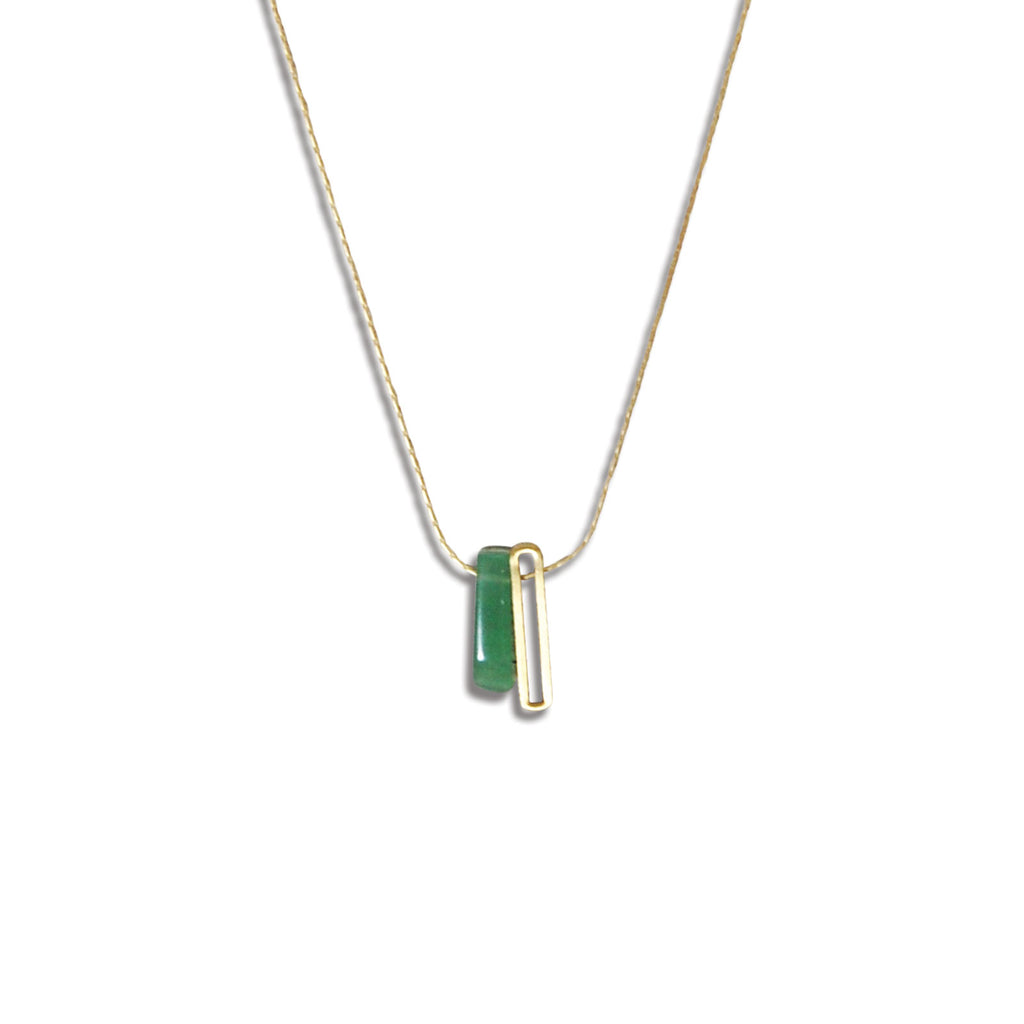 Green Aventurine Minima Necklace