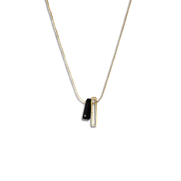 Black Onyx Minima Necklace