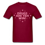 "Sore Thumbs ""DRUGS ARE TEH WIN!"" T-Shirt"