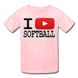 I PLAY SOFTBALL Kids' T-Shirt