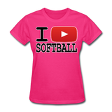I PLAY SOFTBALL Women's T-Shirt