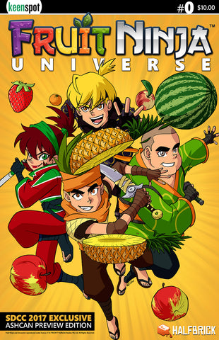 FRUIT NINJA UNIVERSE #0 SDCC 2017 EXCLUSIVE ASHCAN PREVIEW EDITION Comic Book
