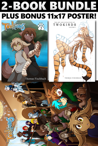 Twokinds Vol. 3 + Artbook + Poster Bundle