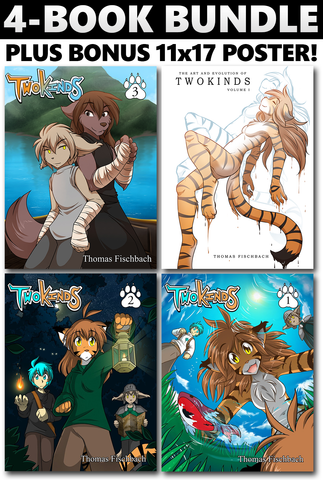 Twokinds Vol. 1-2-3 + Artbook + Poster Bundle