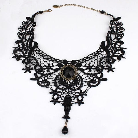 Vintage Victorian Style Choker Lace Necklace