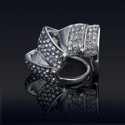 Glam Punk Rhinestone covered Armor Knuckle Ring
