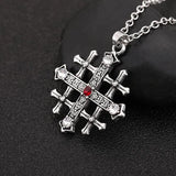 Medieval/Knight Cross Pendant. Rope or chain necklace.